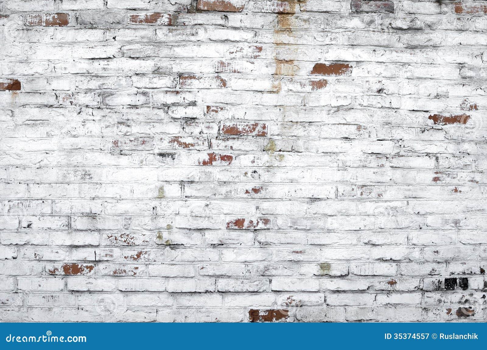 Old brick wall stock image image of wall masonry white for Old brick wall white