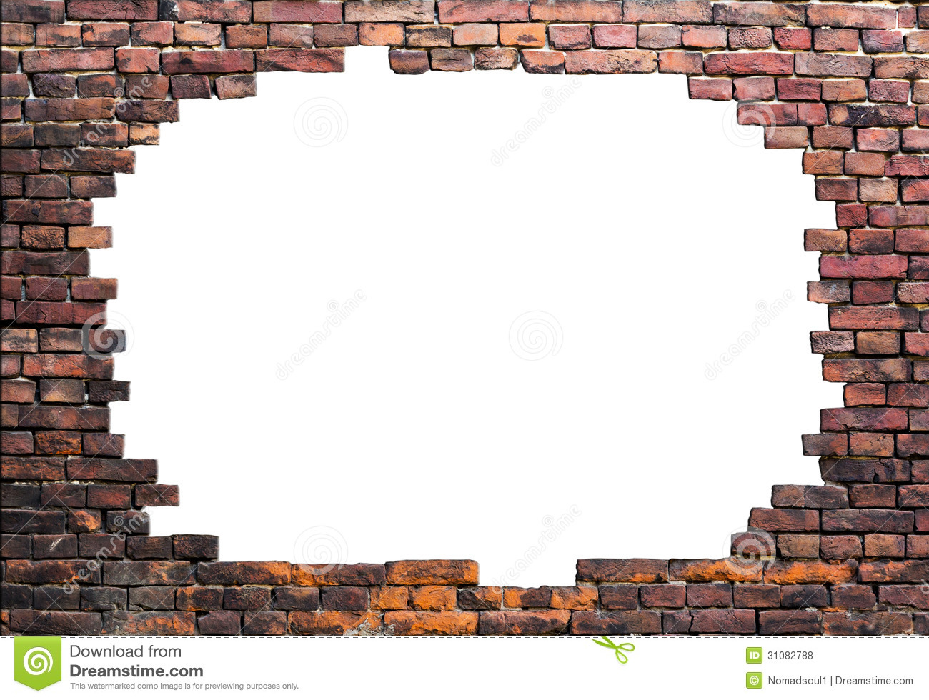 Old Brick Wall Stock Photo Image Of Frame Crack Scene