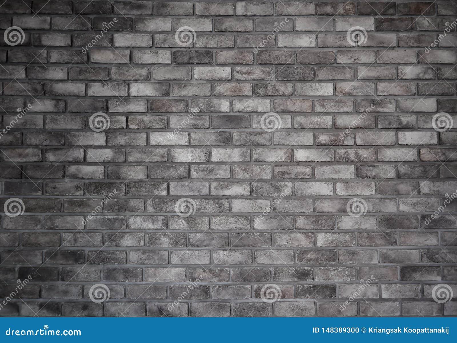 Retro style of old brick gray wall