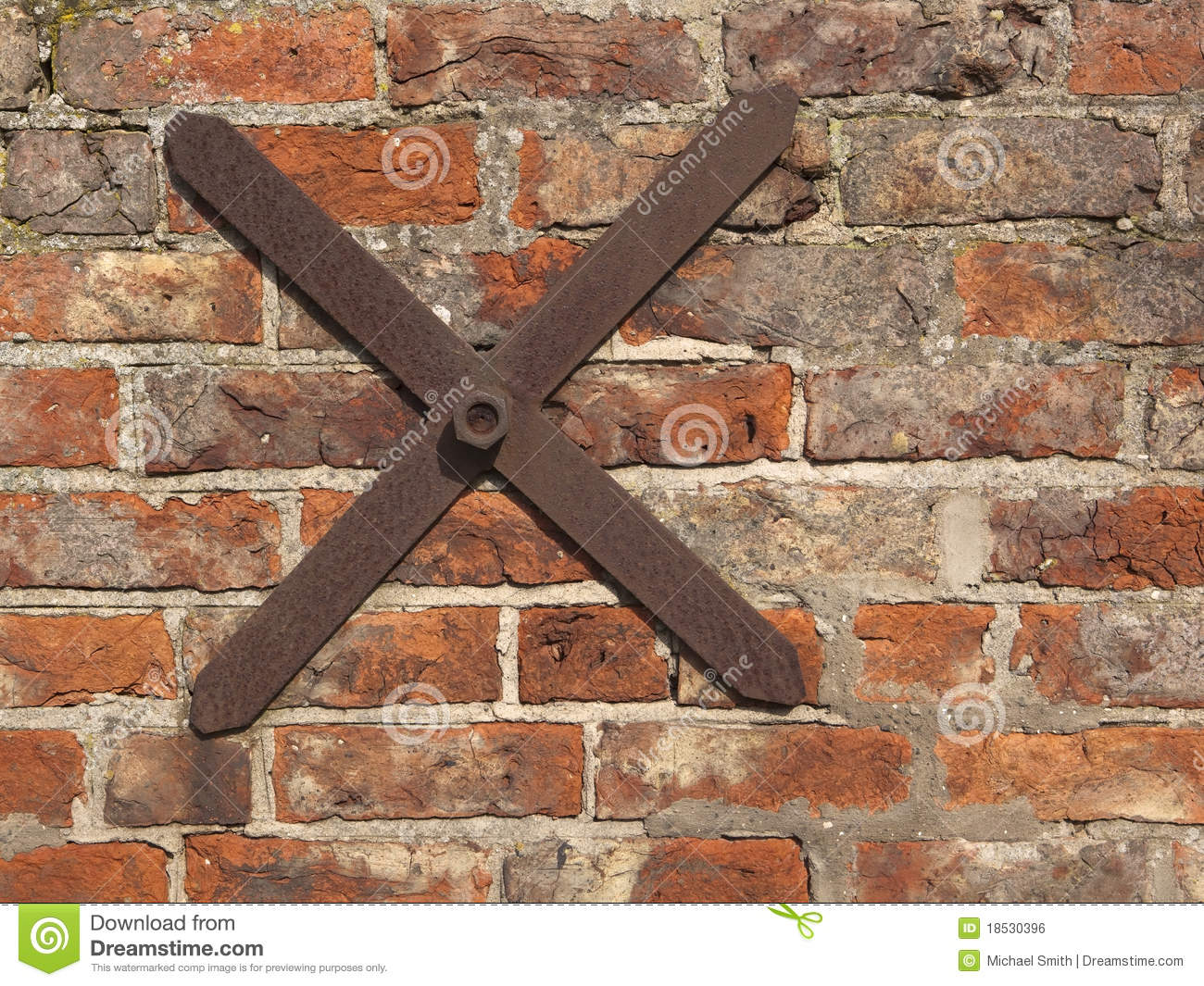 Bar Ties Construction : Old brick wall with tie bar stock photo image