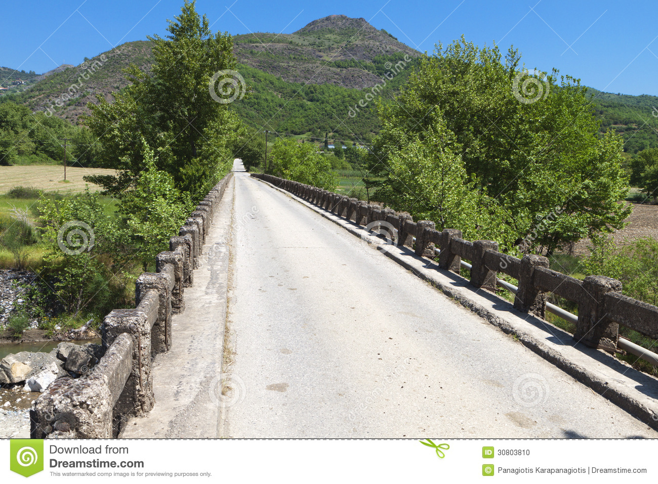Old Bridge In Greece Stock Photo Image 30803810
