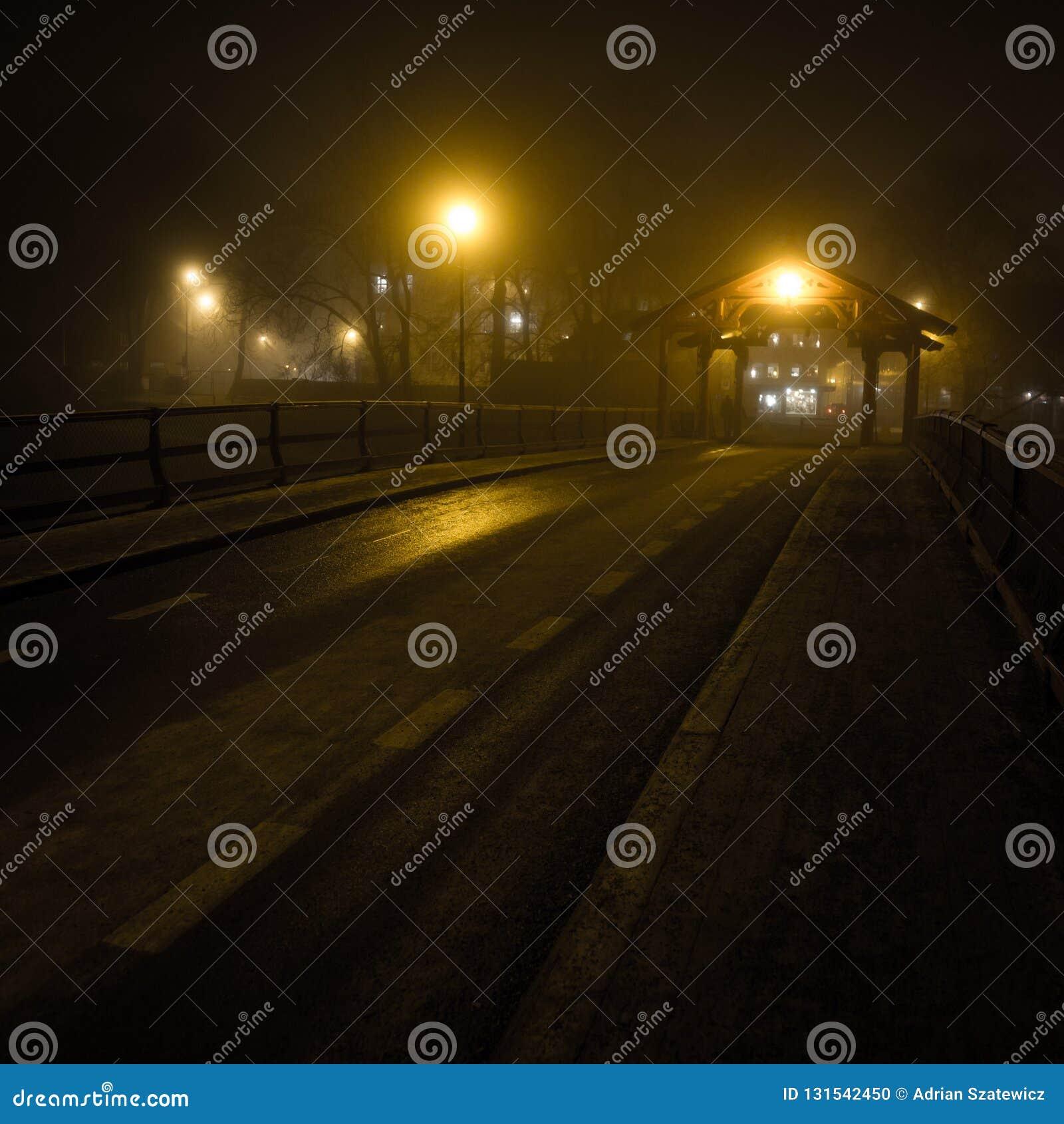 Old bridge near Bakklandet area called Gamle By Bru. Trondheim in Norway