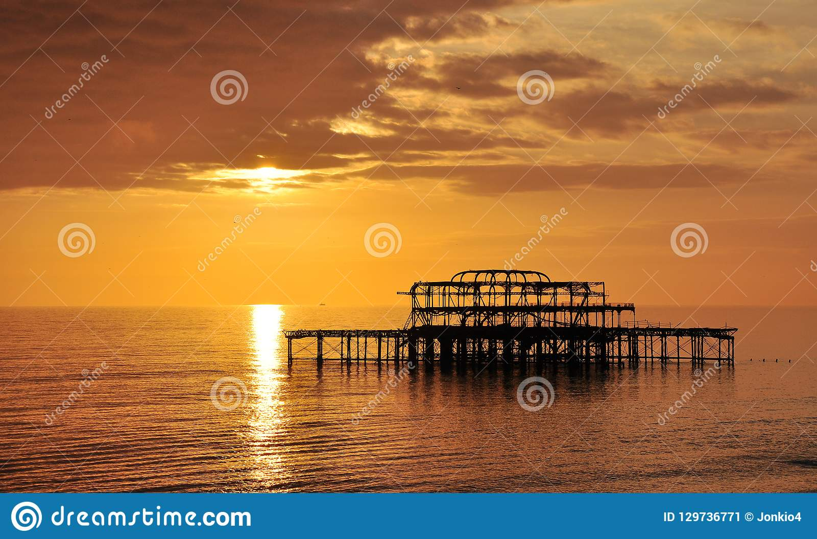 Old Brighton west pier, UK