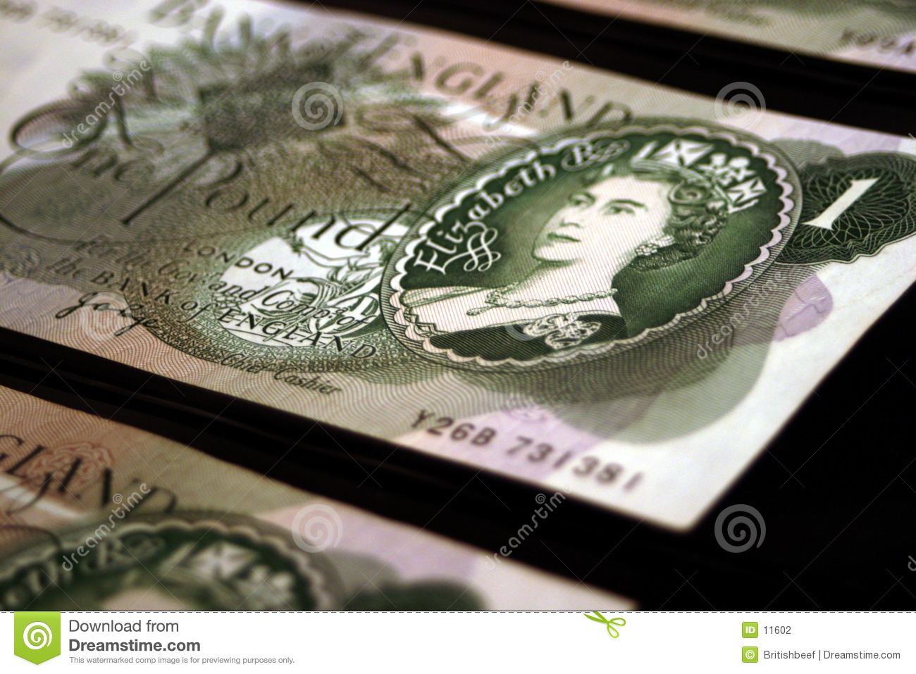 Old british banknotes