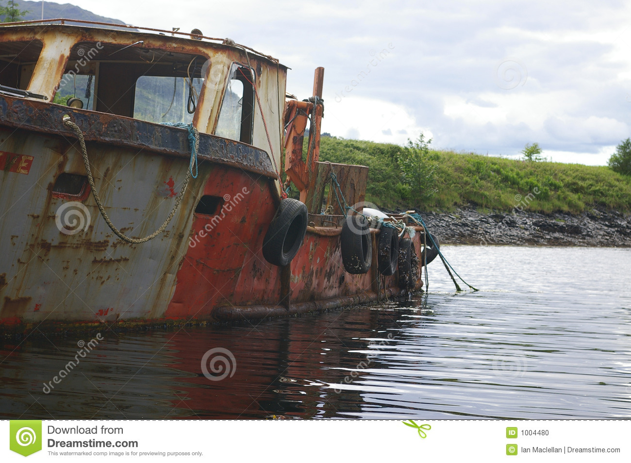 Old broken boat stock photo. Image of smashed, rope, brown ...