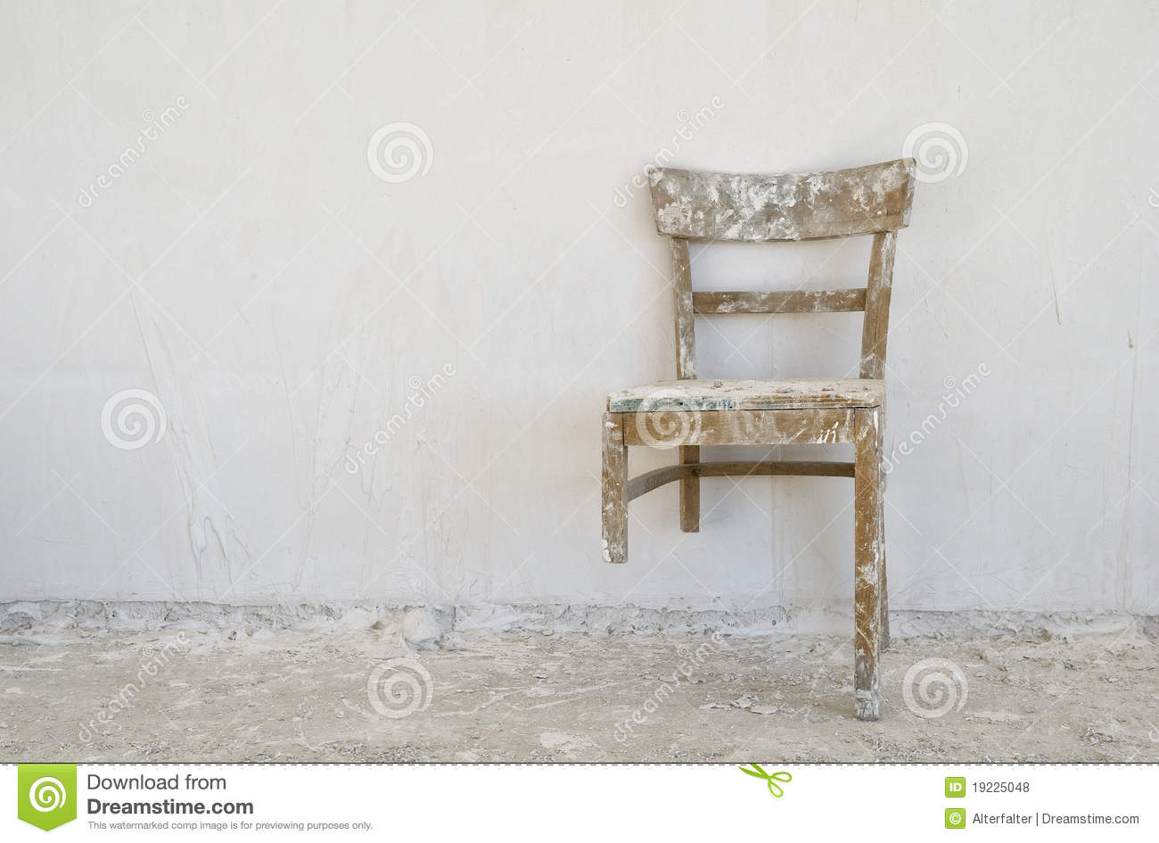 Old Broken Chair Stock Photo Image Of Need Wall Shaky