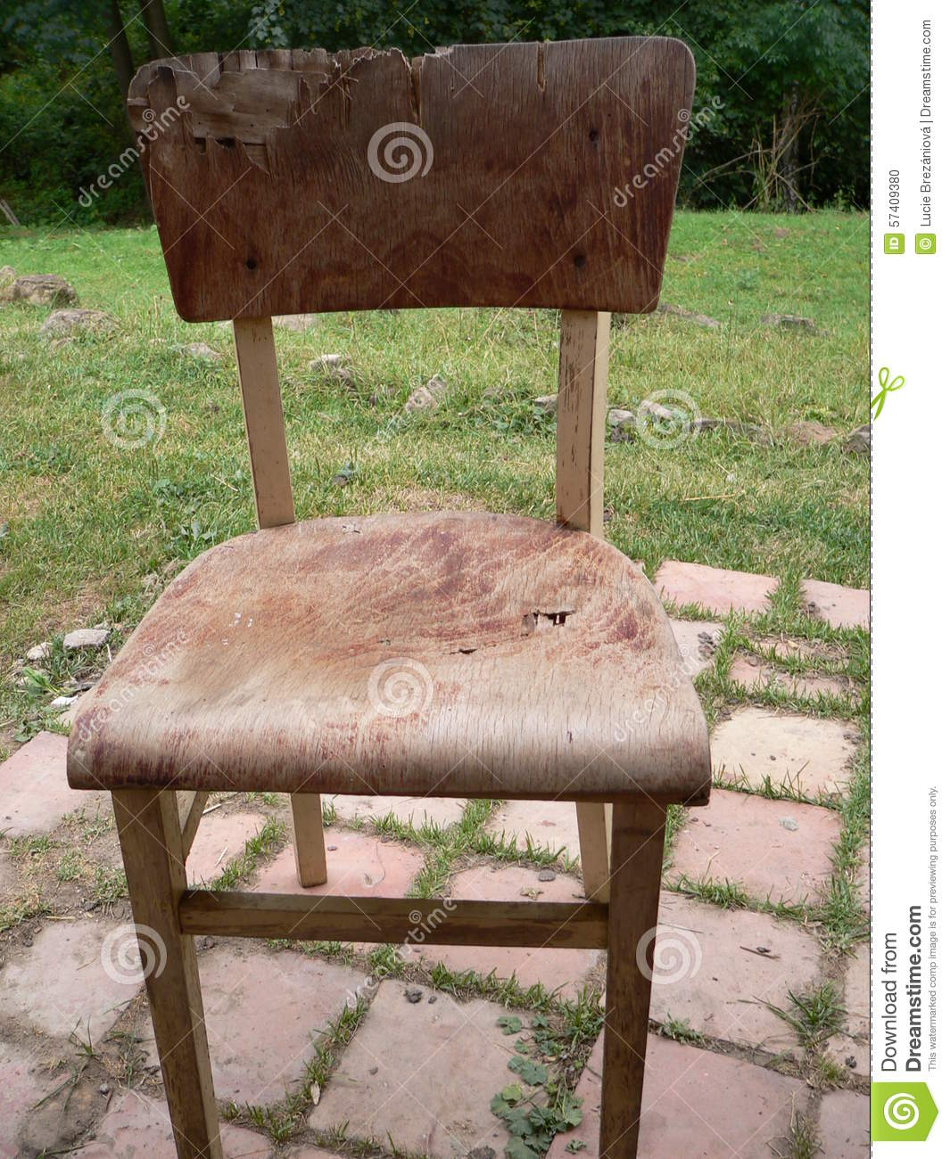 Old Broken Chair Stock Photo Image Of Country Wooden
