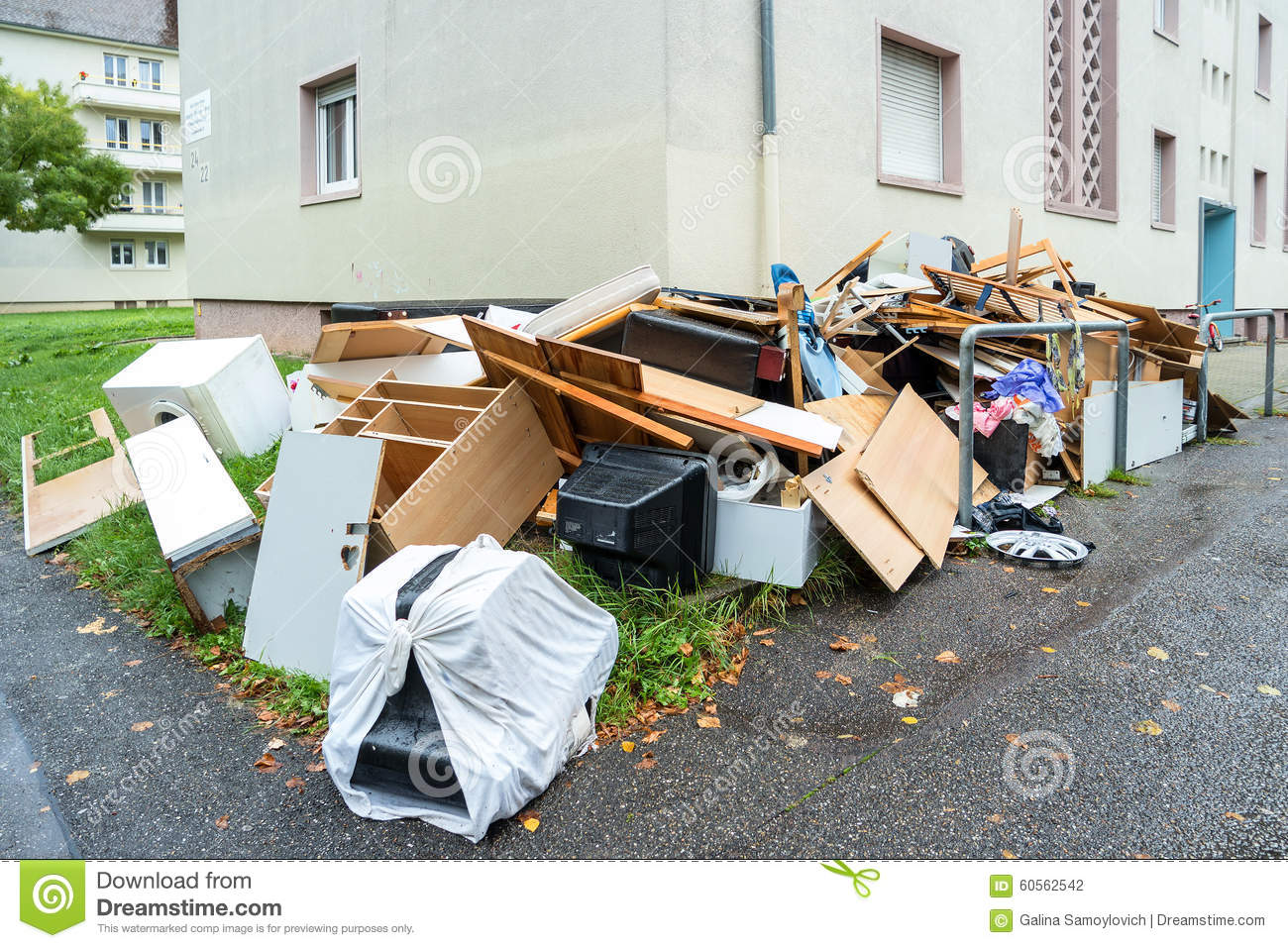 Old Broken Furniture Stock Photo Image 60562542