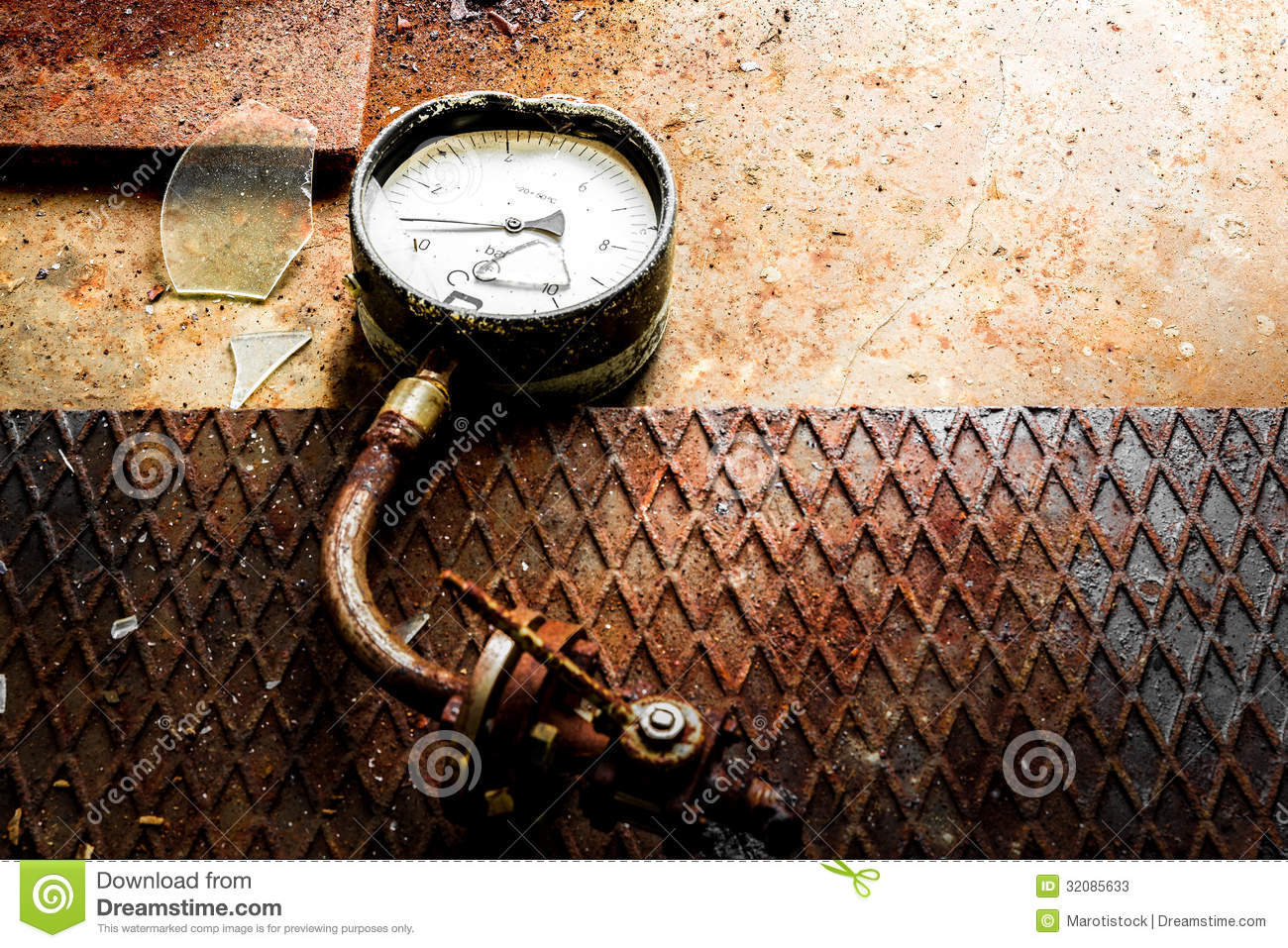 Old Broken Rusty Meter Stock Photos Image 32085633