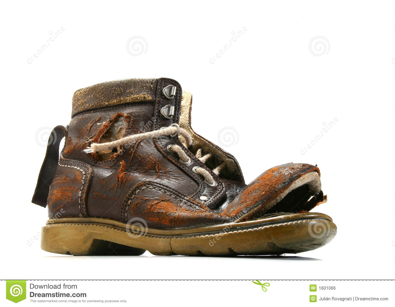 Royalty Free Stock Image: Old and broken shoe