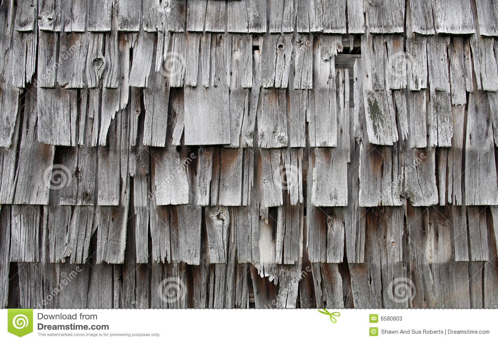 Old Broken Weathered Shingles Stock Image Image 6580803