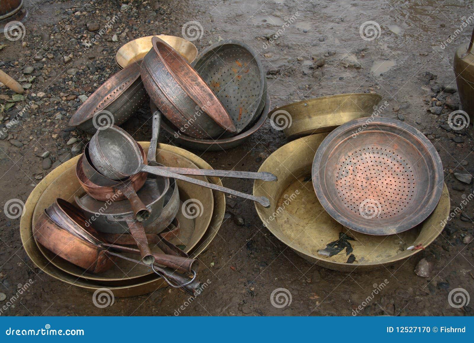 Old Bronze Utensils Stock Photo Image 12527170