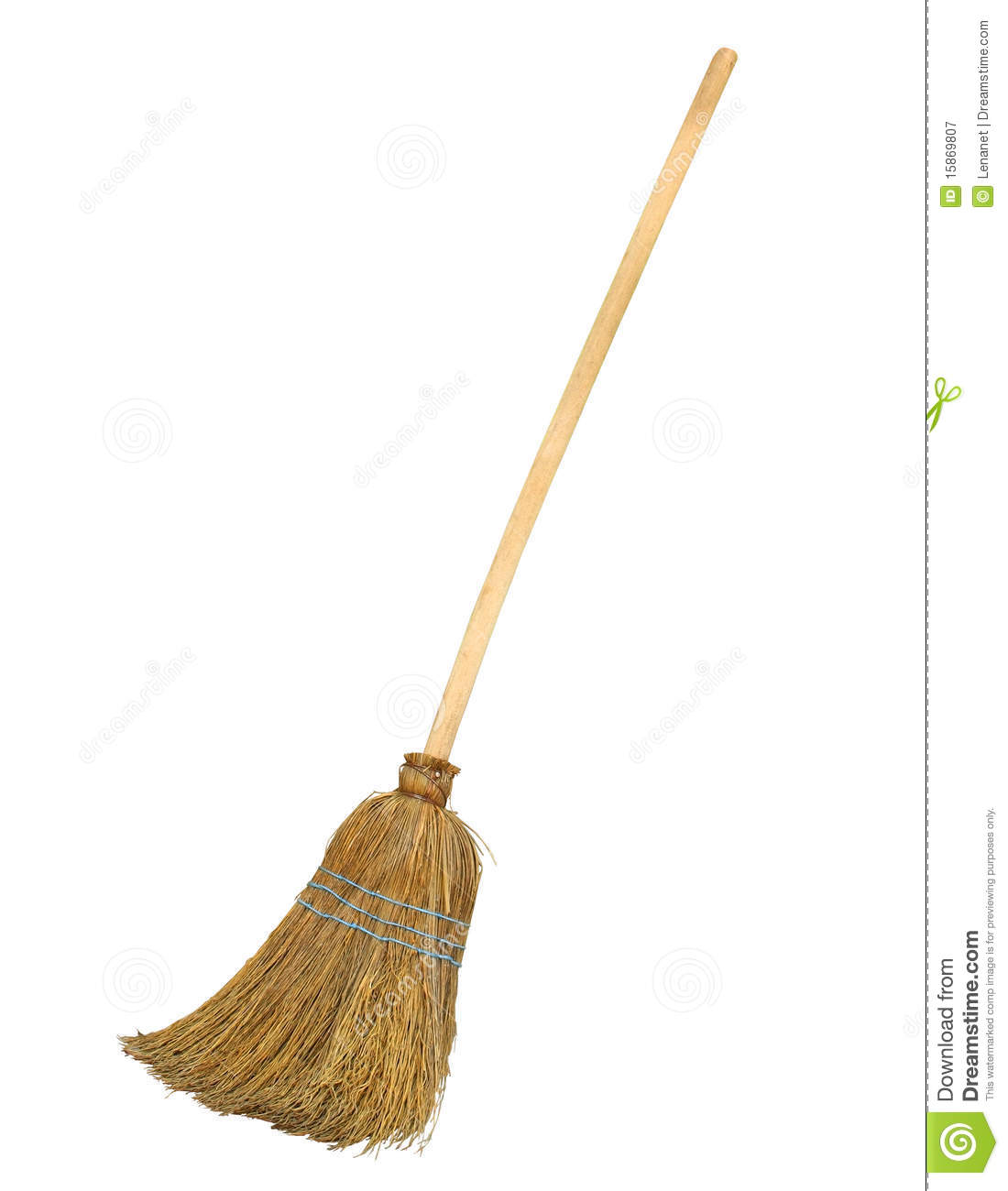 Old Broom With Clipping Path Royalty Free Stock Photography - Image ...