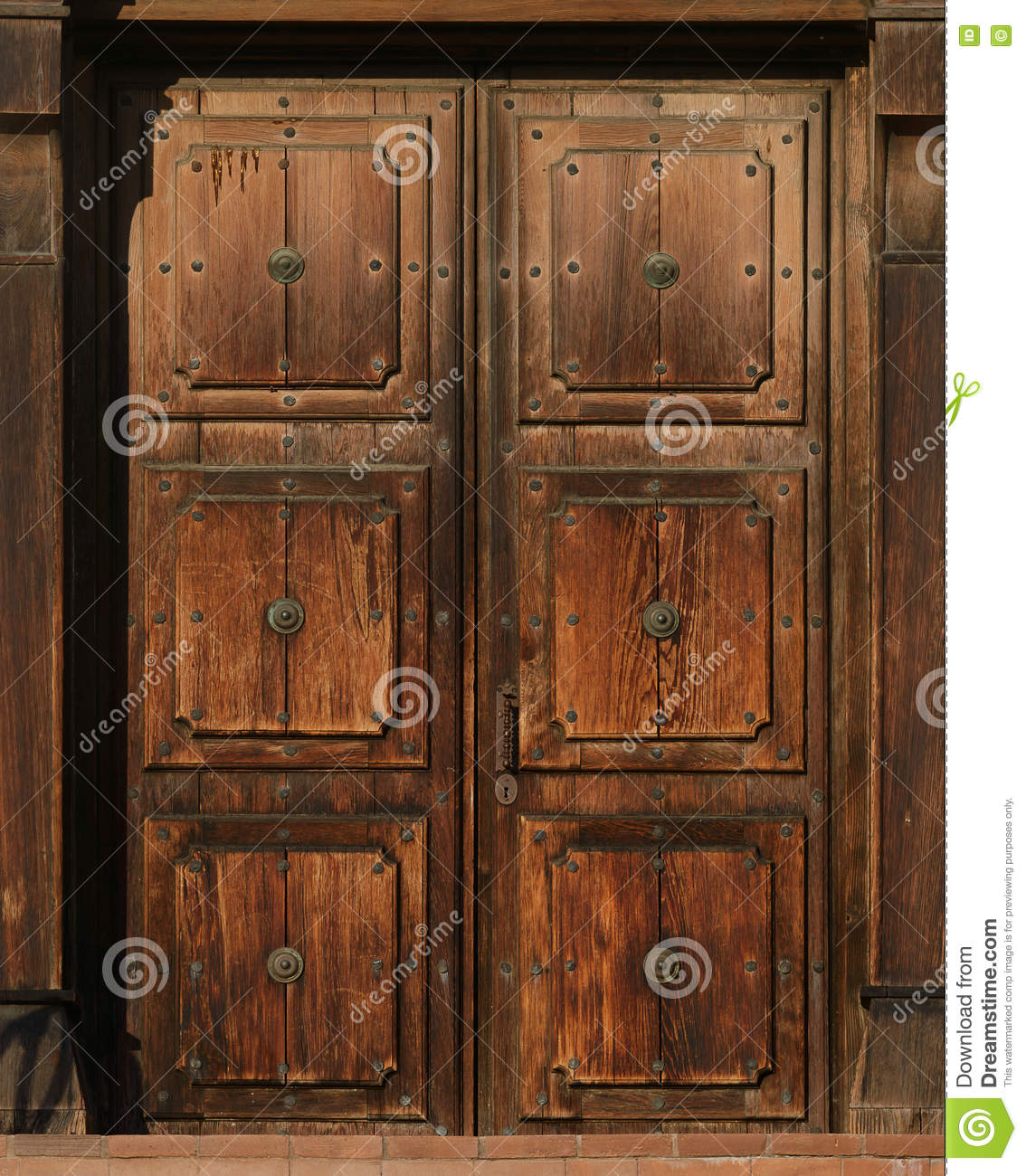 Old Brown Doors Stock Photo Image Of Outside Architecture 76784750