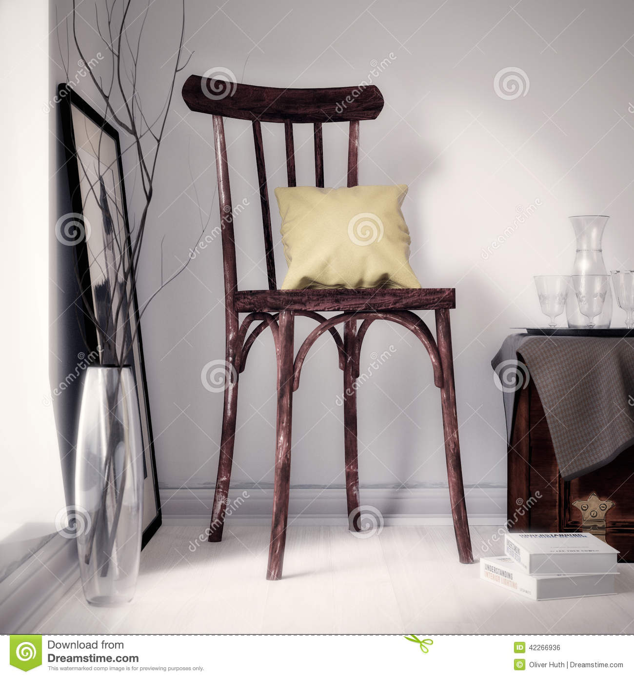 Old brown seat