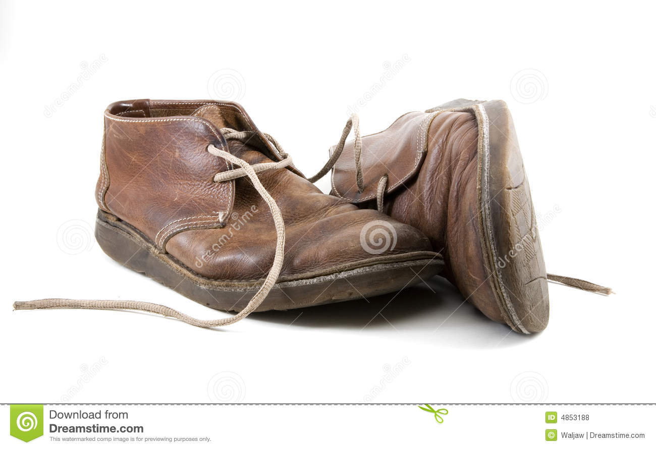 Old Brown Shoes Royalty Free Stock Photos Image 4853188