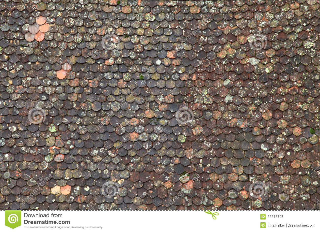 Old Brown Tile Roof Background Stock Image Image 33378797