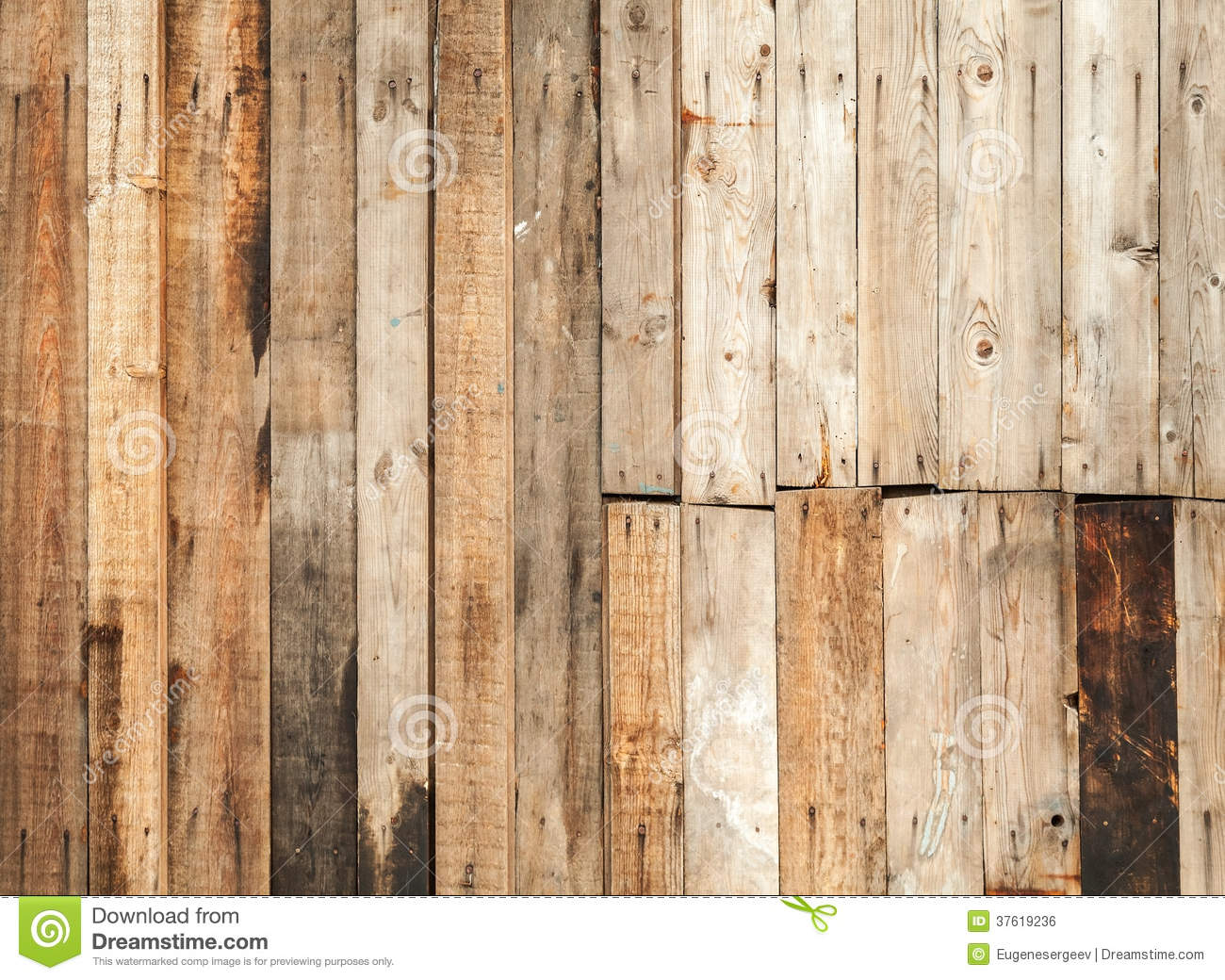 Old Brown Wooden Fence Background Texture Royalty Free