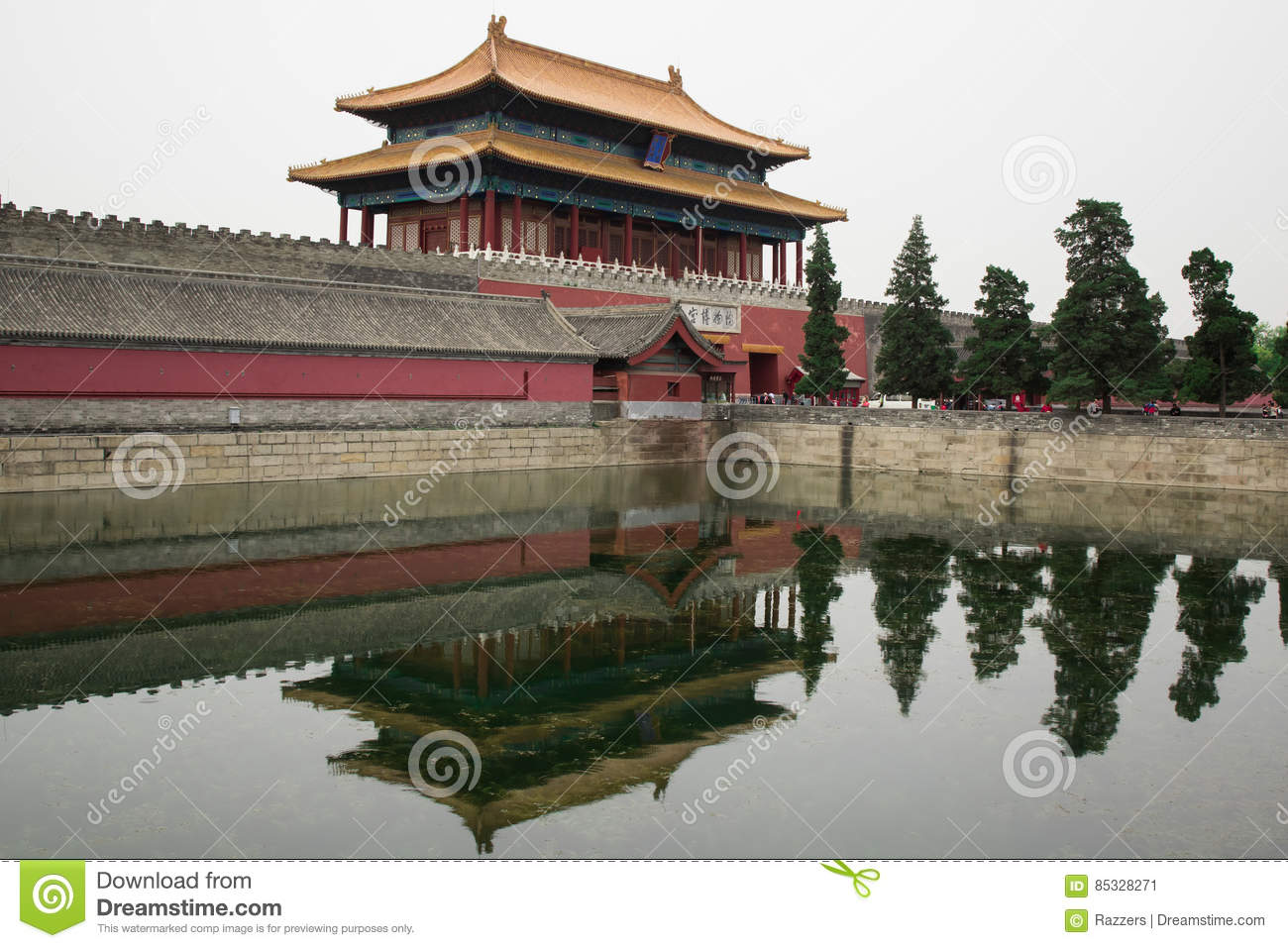 Old Buddhism Temple Red Asian Pagoda Tower Ancient Architecture