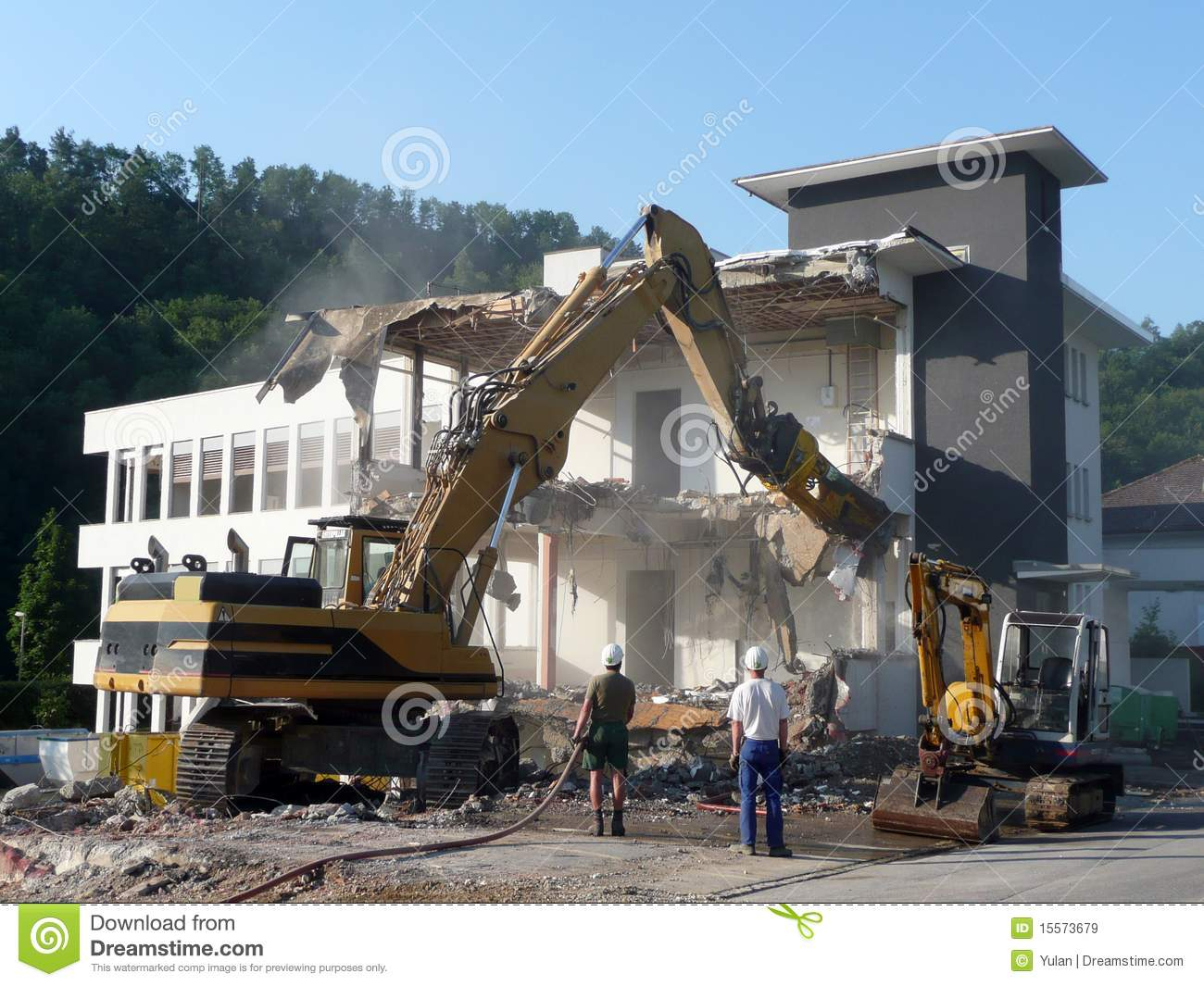 An Old Building Is Being Torn Down Royalty Free Stock