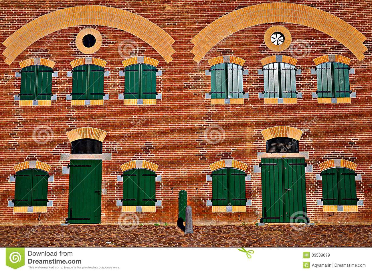 Old Building With Brick Facade Royalty Free Stock Images