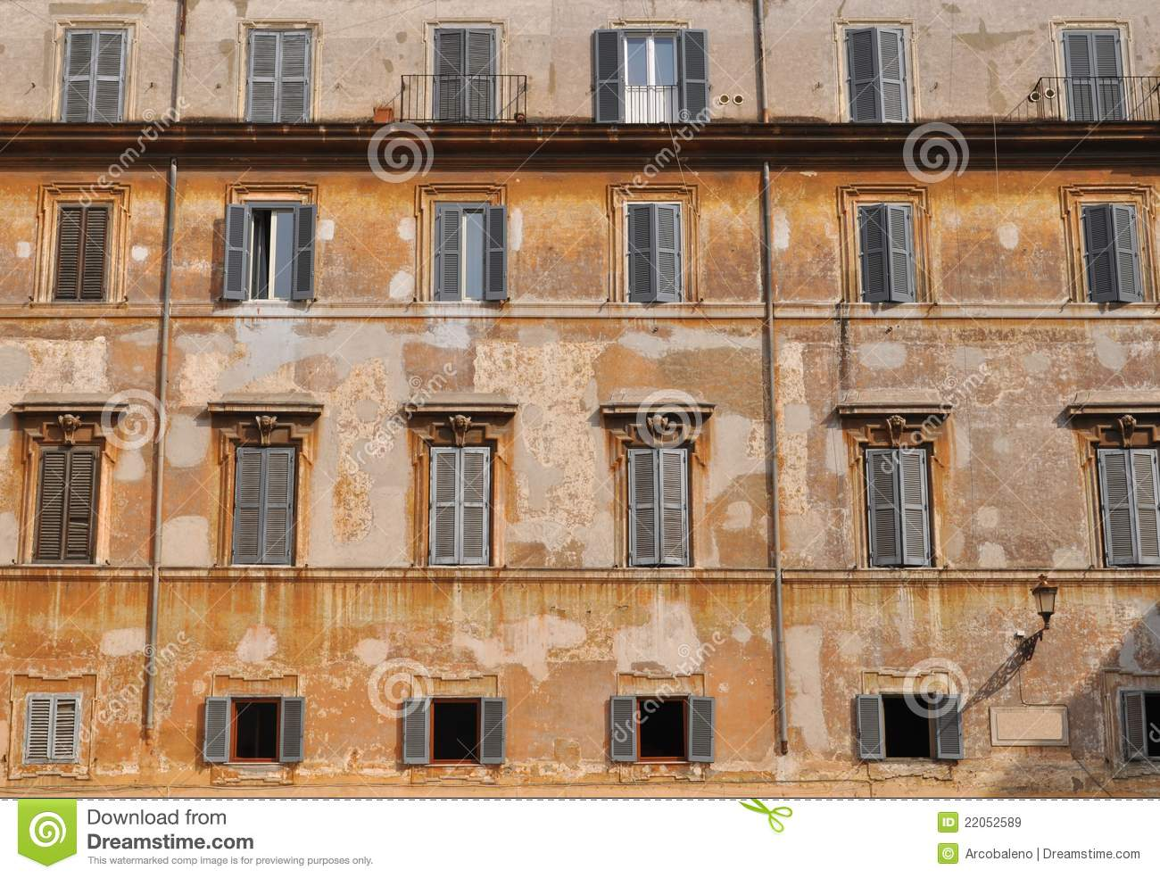 Old building facade stock image image of italian house for Classic house facades