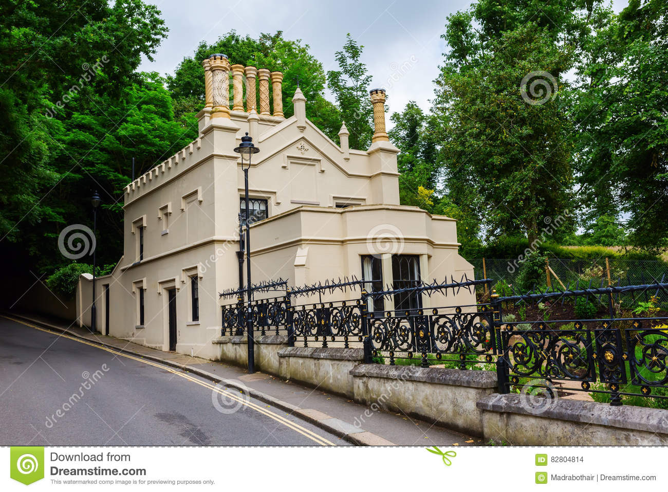 Old building at Highgate Cemetery in London