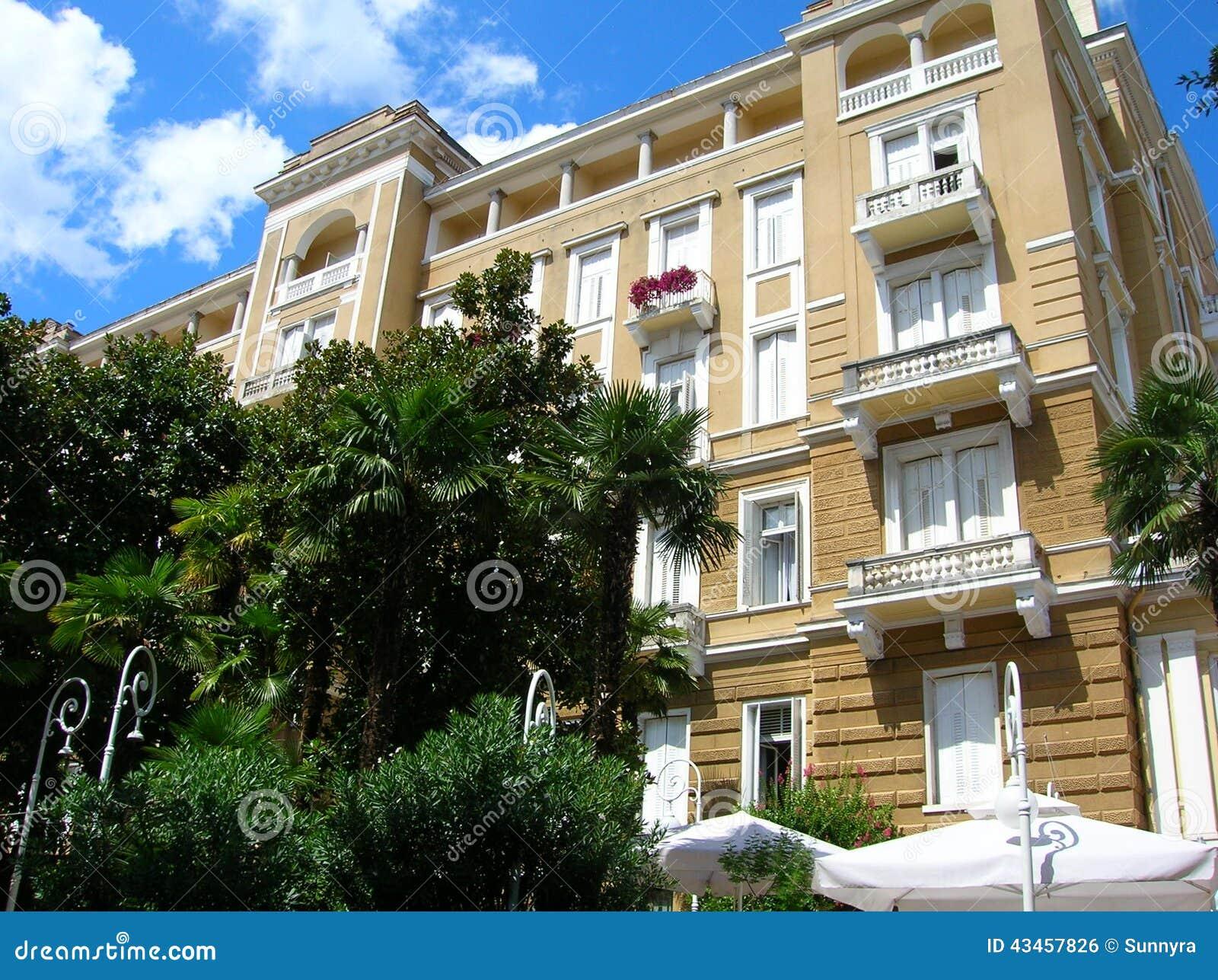 Luxury hotel in opatija stock photo image 43457826 for Design hotel opatija croatia