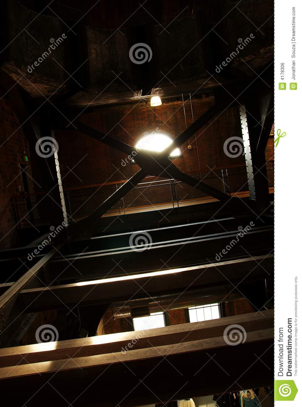 Old building rafters
