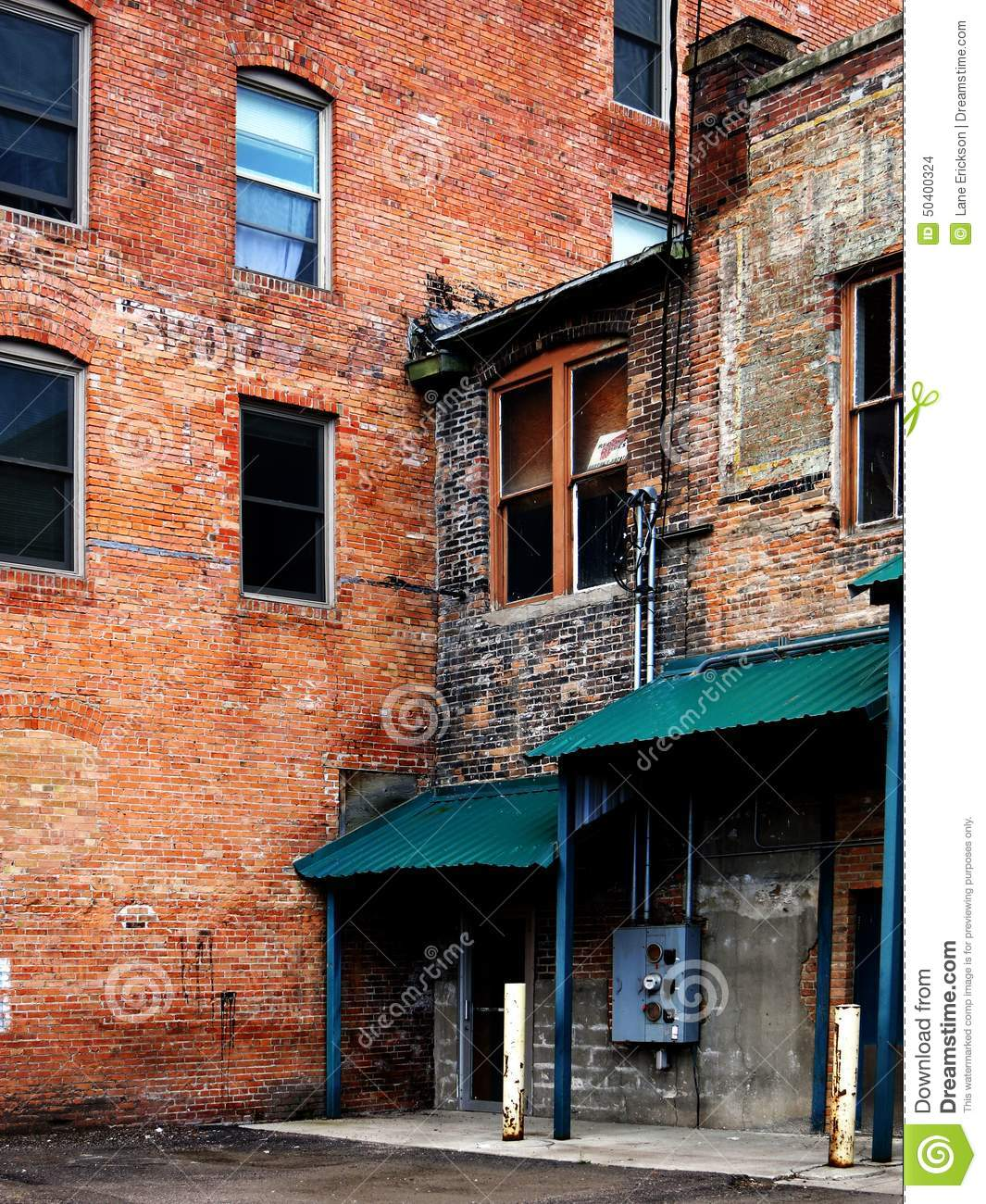 Old Buildings Abandoned Gritty Urban Stock Photo