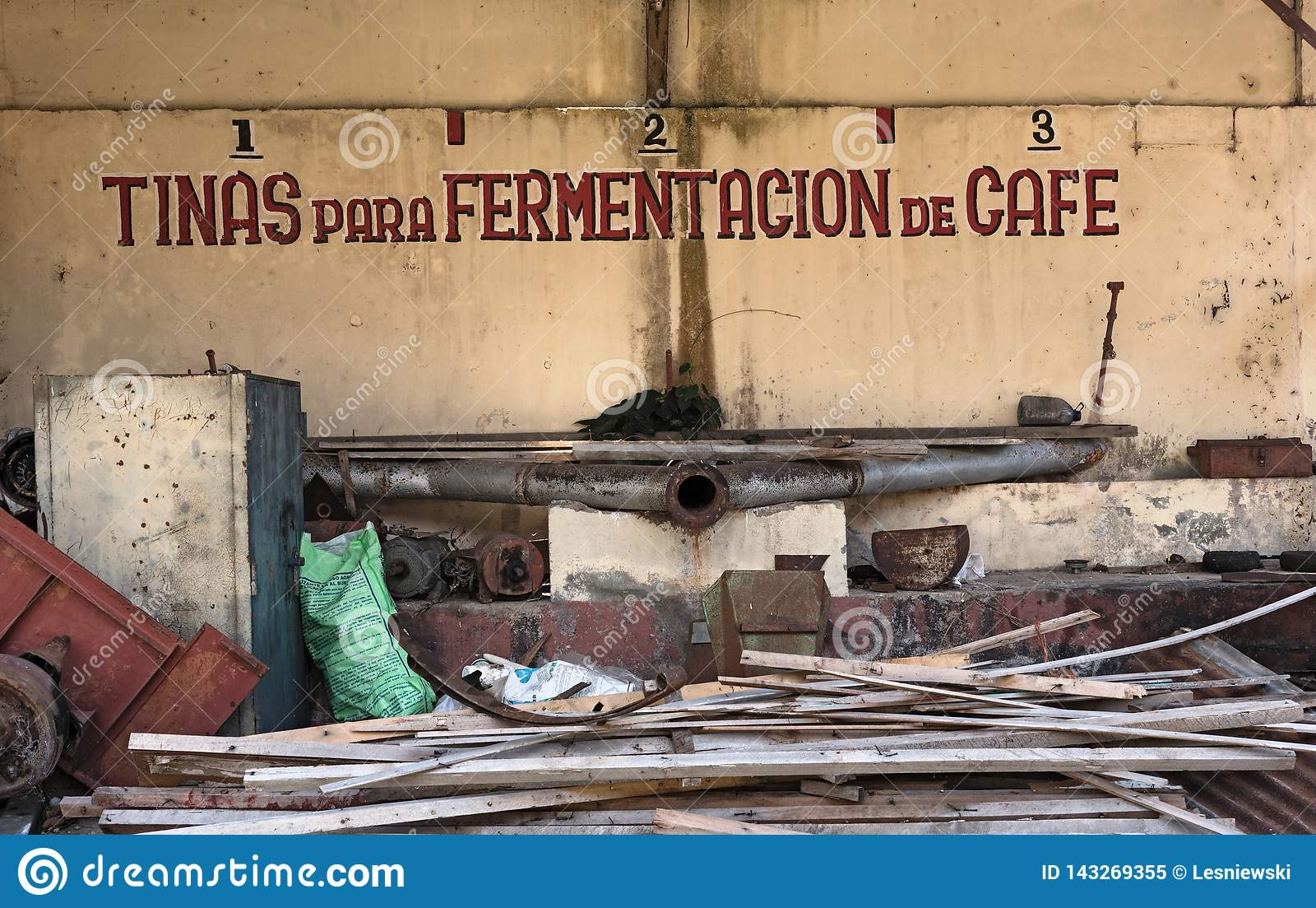 Old Buildings Of The Coffee Factory Princesa Janca In