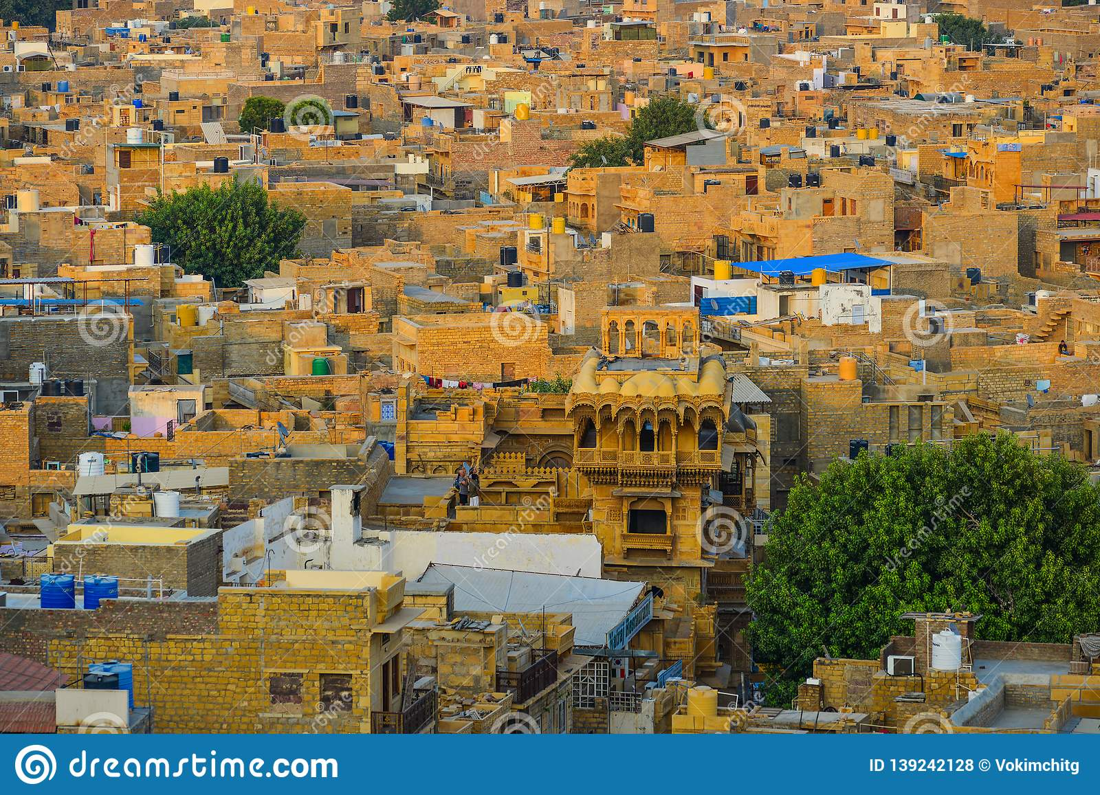 Old Buildings In Jaisalmer, India Stock Photo - Image of
