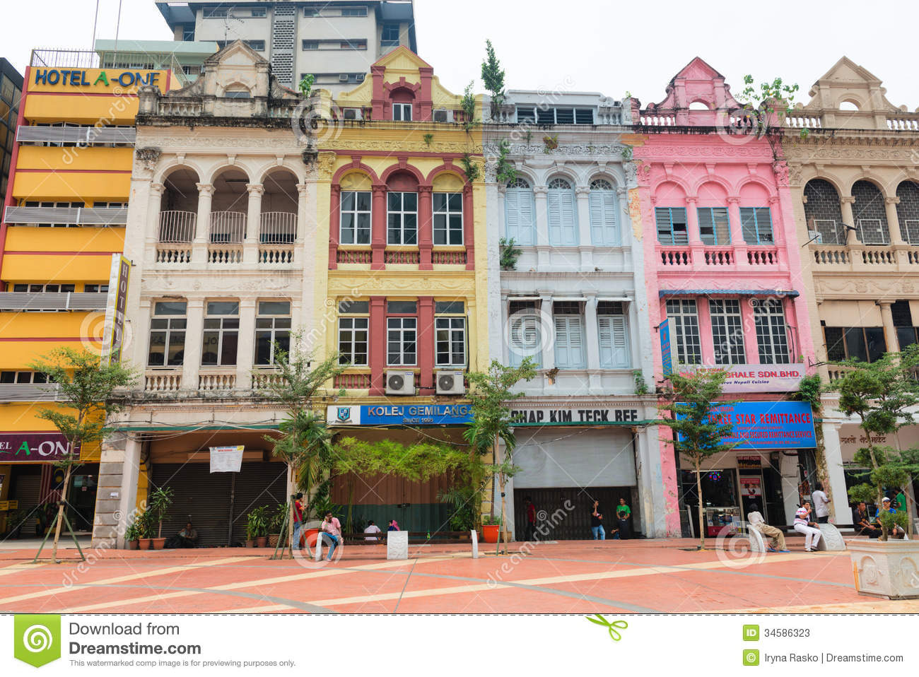 Old Buildings In Kuala Lumpur City Center Editorial Stock