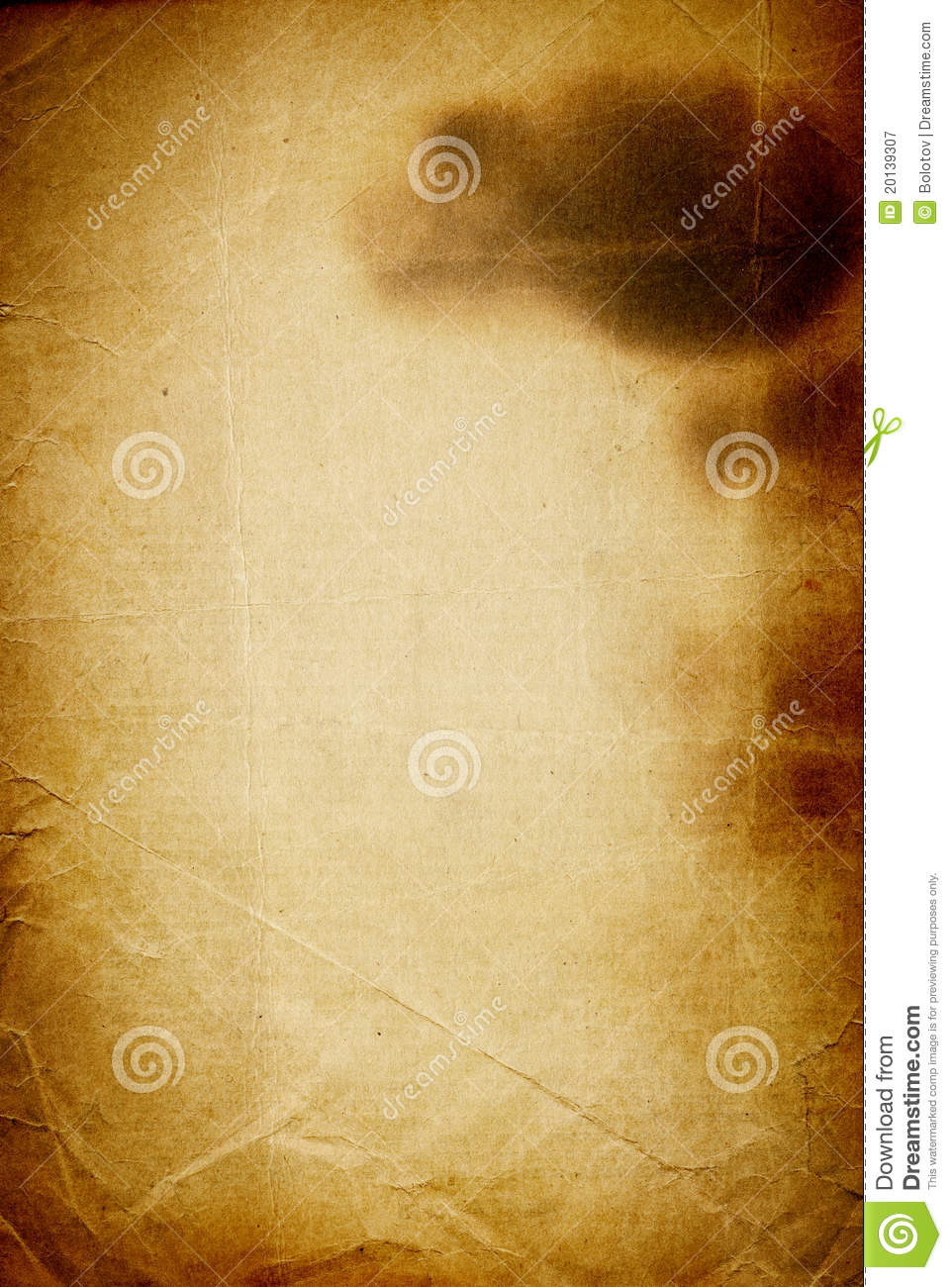 Old Burned Paper Royalty Free Stock Photography Image