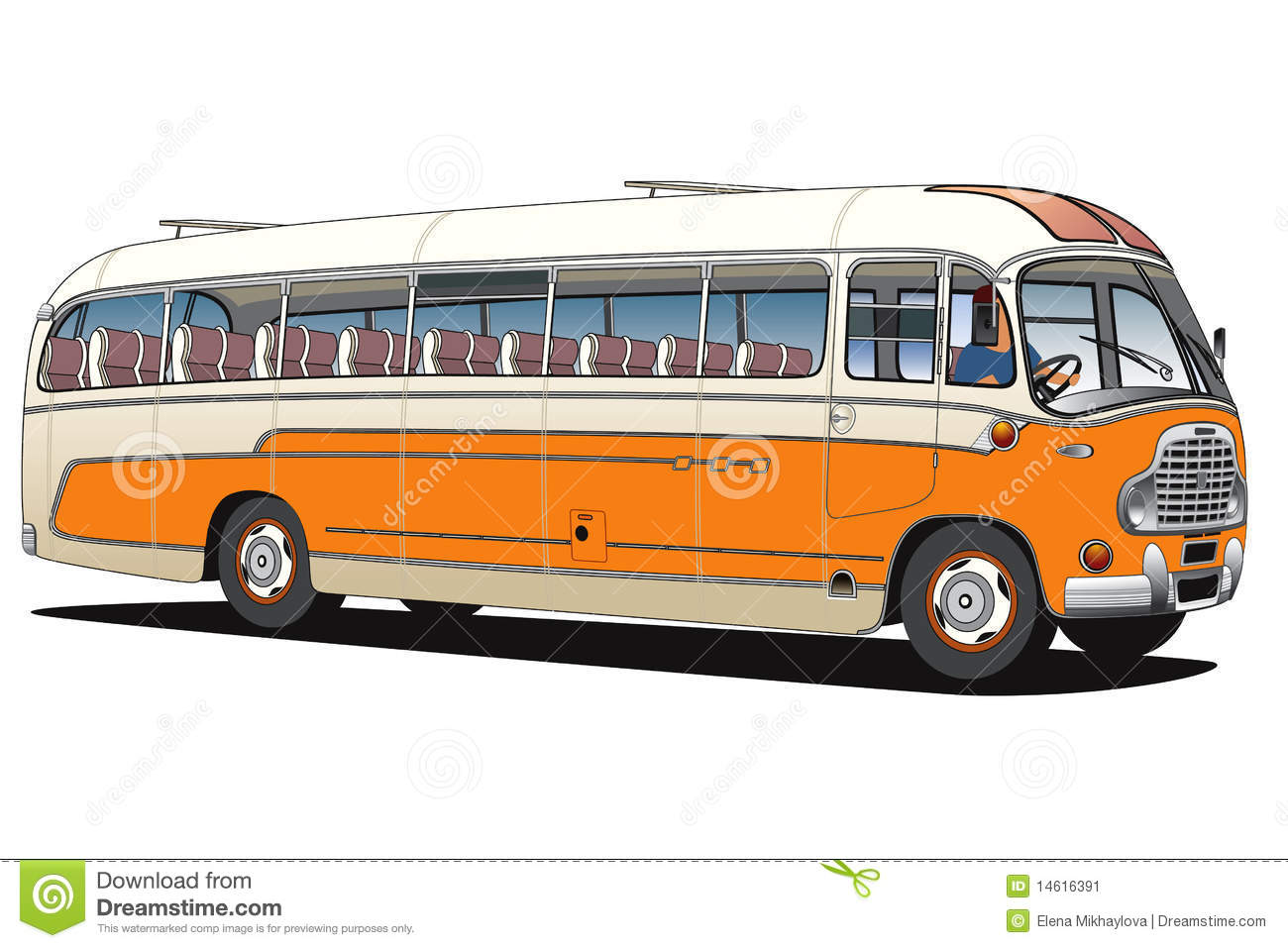 Old Bus Stock Vector Image Of People County Coach