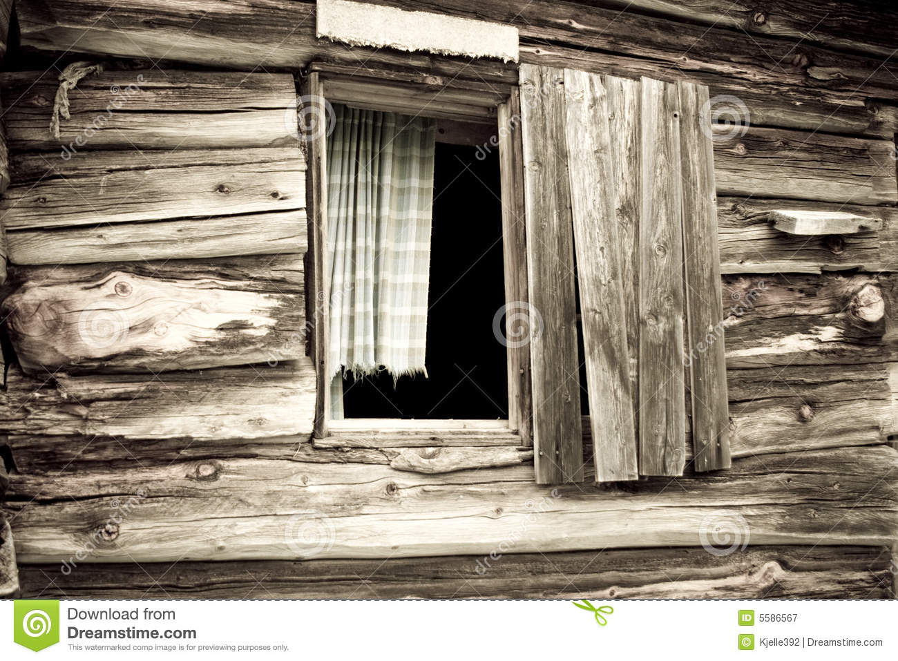 Cabins Out Of Old Windows : Old cabins window stock image of glass panel wood