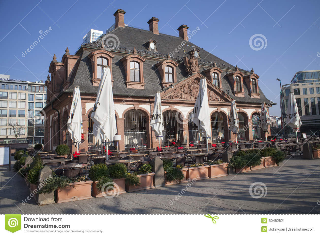 old cafe house in frankfurt city germany editorial photo image 50452621. Black Bedroom Furniture Sets. Home Design Ideas