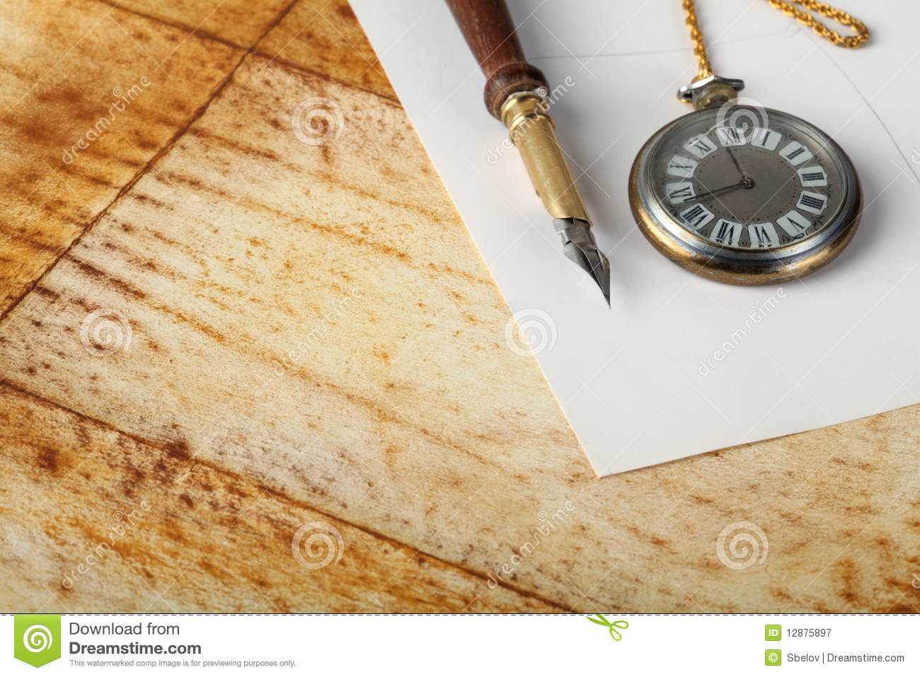 Royalty Free Stock Photography  Old calligraphy penOld Calligraphy Pen