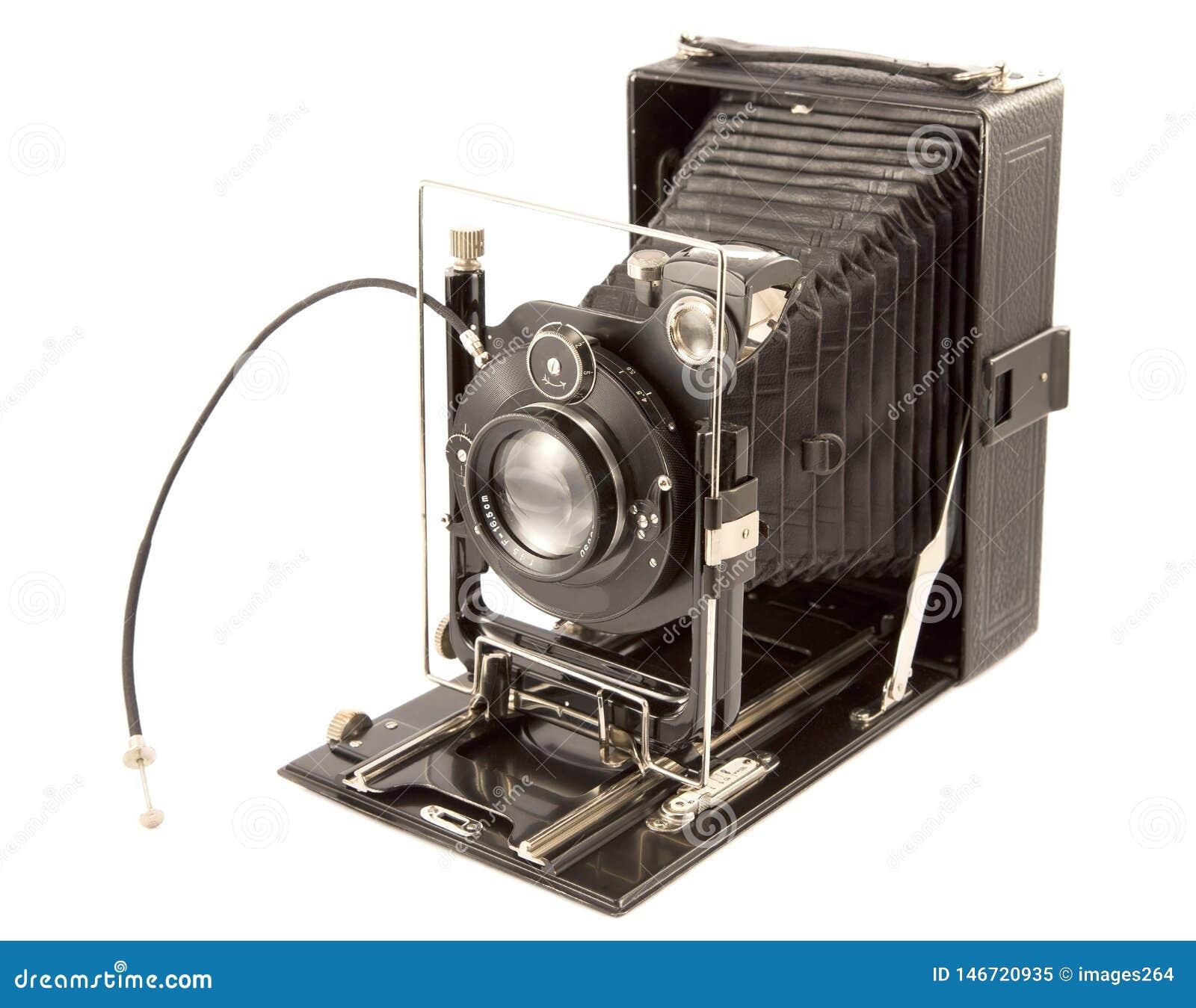Old camera stock image  Image of black, record, design