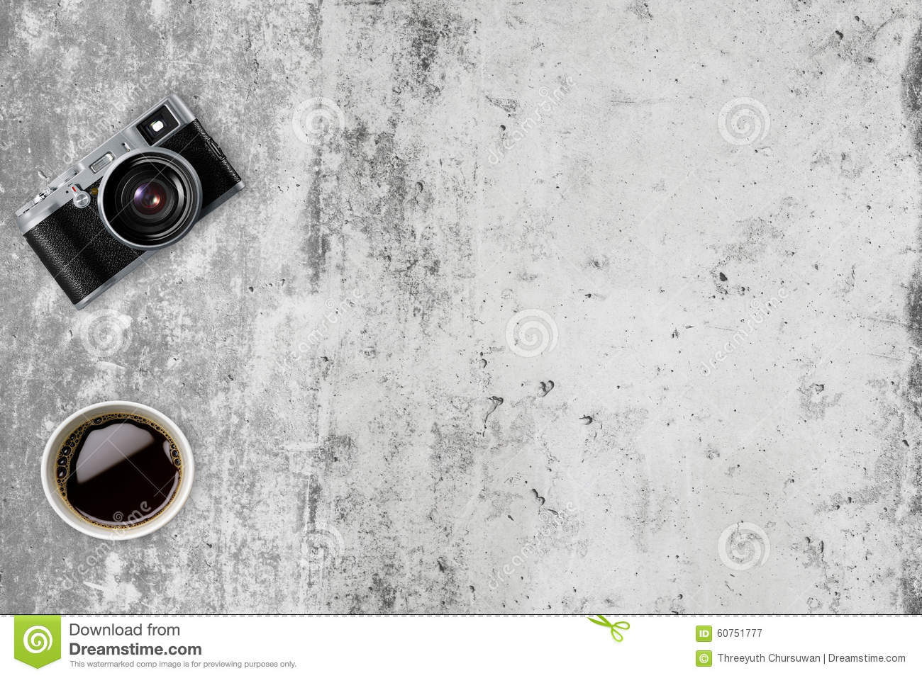 Old Camera In Retro Vintage Background Stock Image