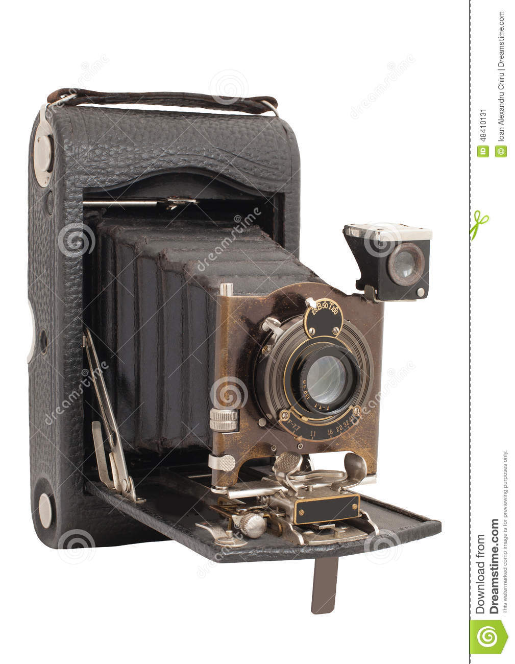 Old camera vintage isolated on a white background