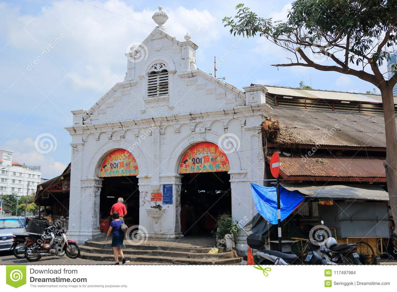 The Old Campbell Street Market , Penang Editorial Stock