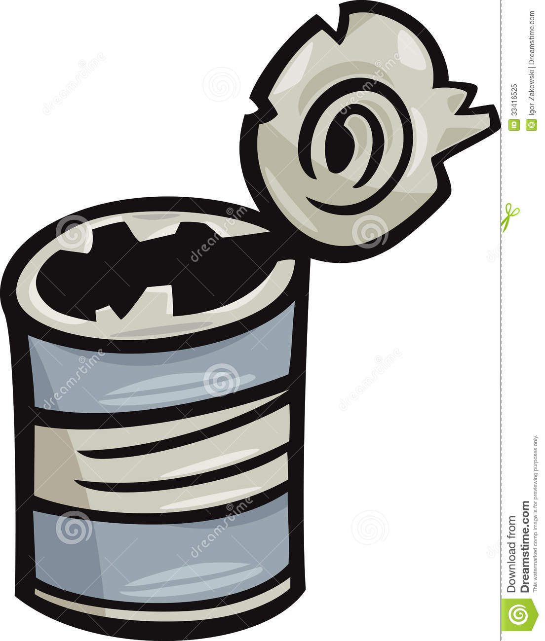Old Can Junk Cartoon Illustration Royalty Free Stock Photo - Image ...