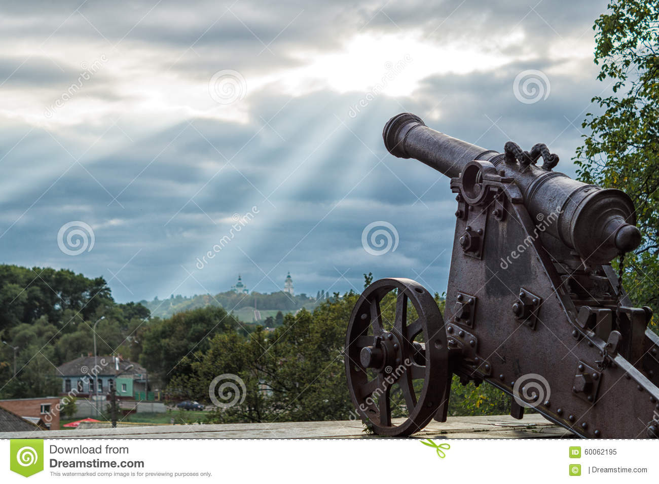 Chernihiv Ukraine  city images : An old cannon monument in Chernihiv, Ukraine.