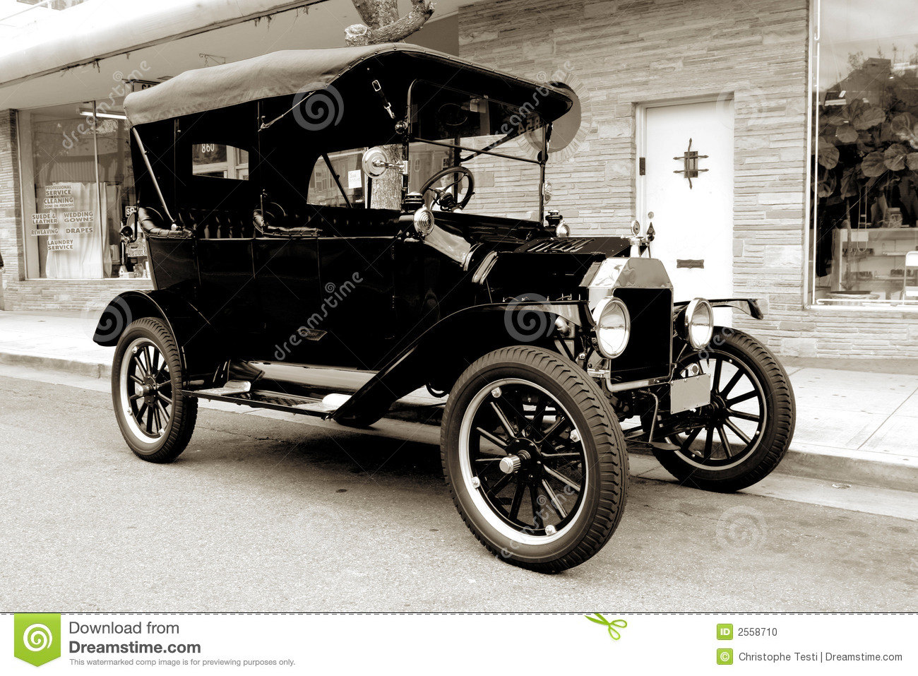 Old car from 1915 stock photo. Image of hotrod, 1900, historical ...
