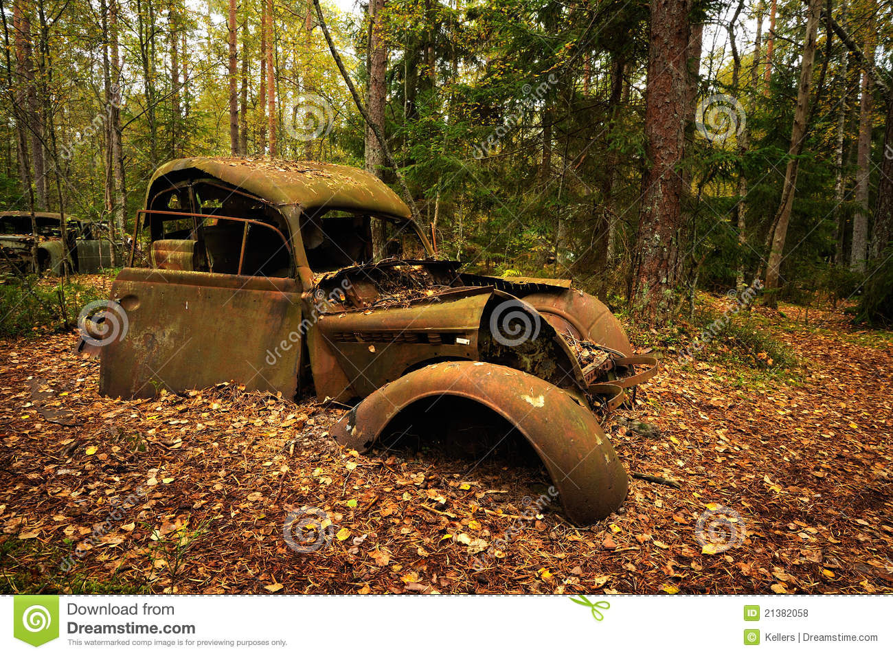 Old car stock photo. Image of nature, automobile, rural - 21382058