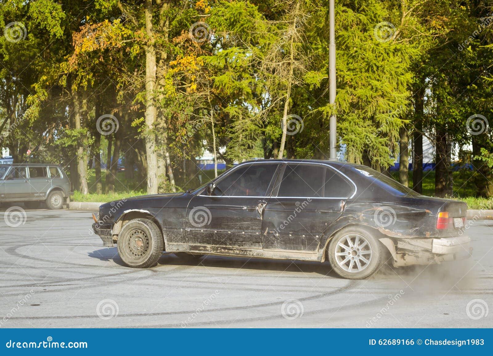 Old Car Bmw Series Drifting Editorial Photo Image