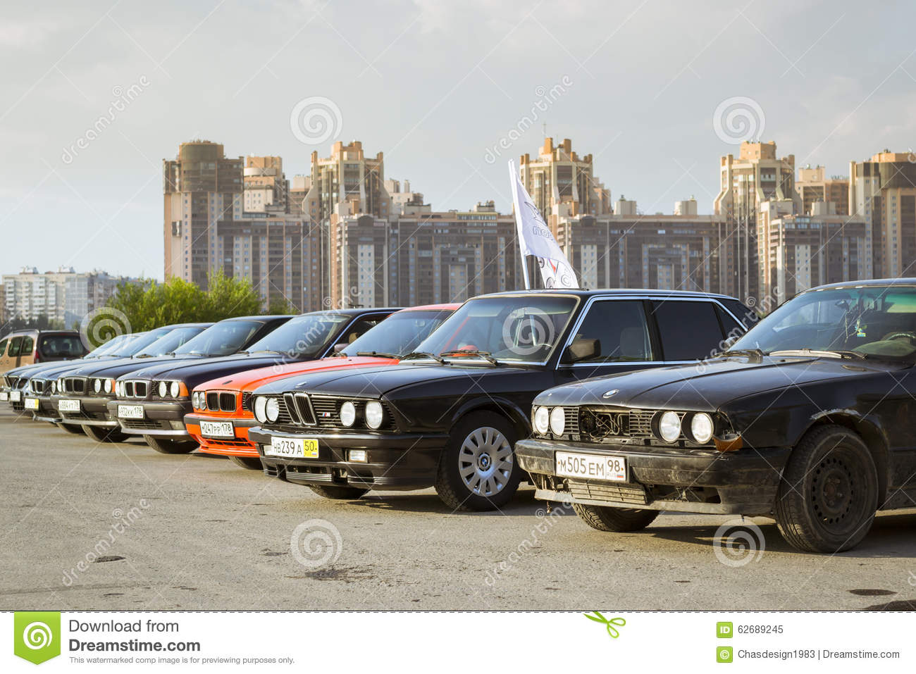 Old Car Bmw 5 Series E34 Editorial Image Of German 62689245 Download