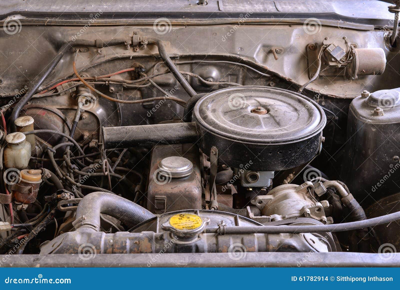 Engine Repair The Old Car Stock Photo | CartoonDealer.com #30042456