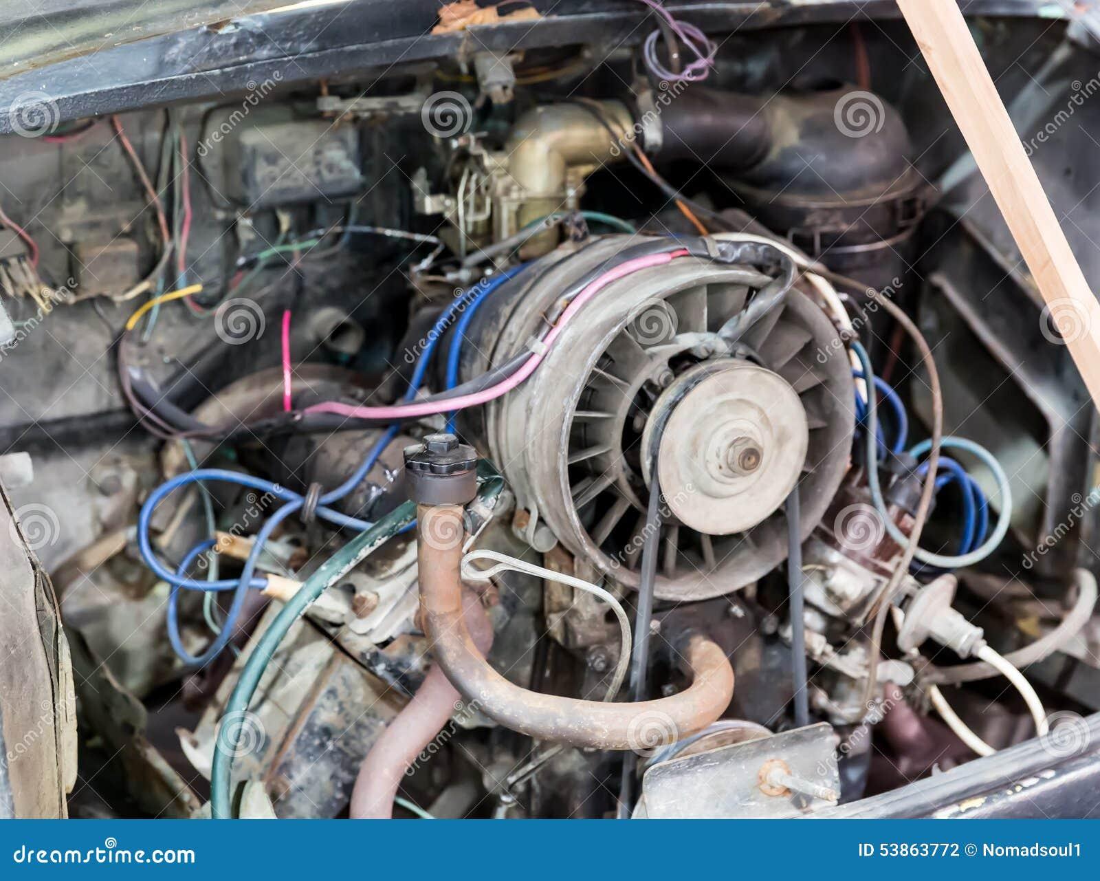Old car engine stock photo. Image of metal, clean, dark - 53863772